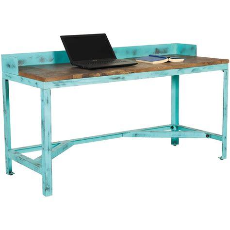 Blue Vintage Desk by Vintage Industrial Work Bench Writing Desk Afw