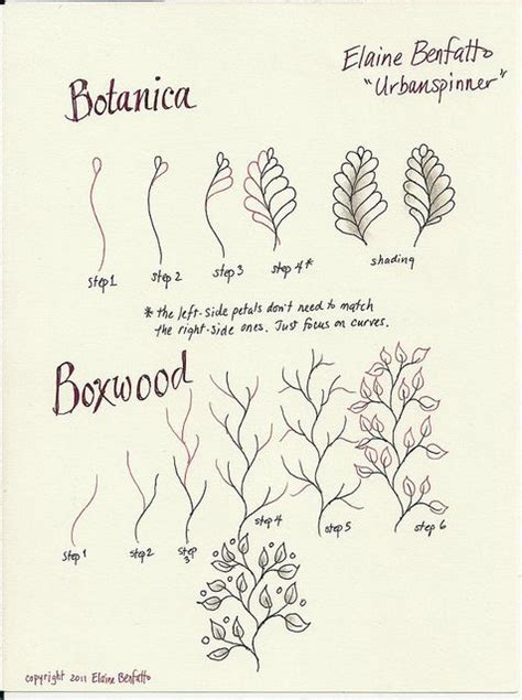 doodle pattern tutorial botanica and boxwooe by urbanspinner elaine benfatto http