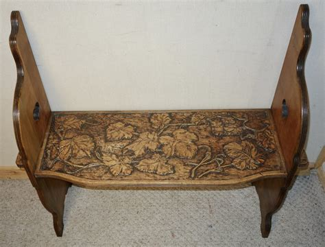 walnut bench seat carved walnut bench seat antiques atlas
