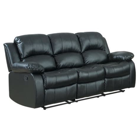 oversized reclining sofa classic oversize and overstuffed 3 seat bonded leather
