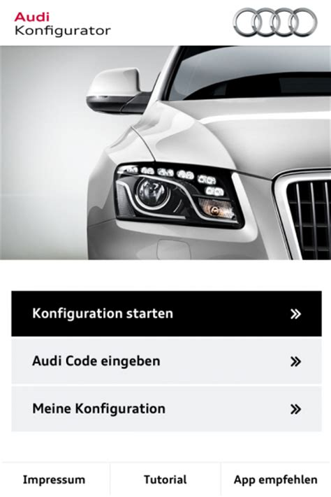 Audi Configurator App by Newsflash Audi Erster Mit Konfigurator App Blogomotive