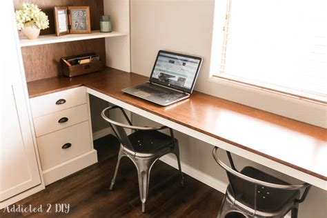 Diy Bed Desk Diy Modern Farmhouse Murphy Bed How To Build The Desk Free Plans Interior Design Inspirations