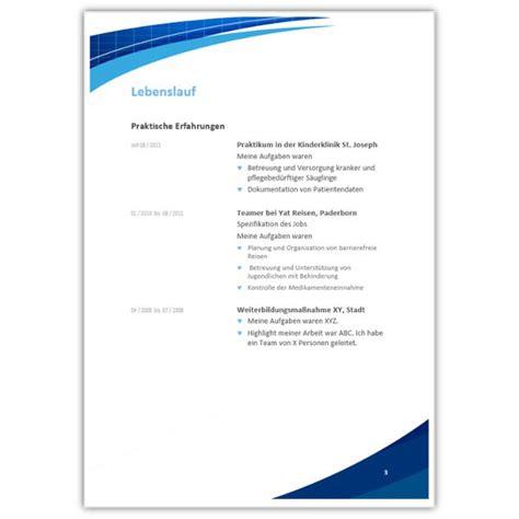 Lebenslauf Vorlage Krankenschwester Layout F 252 R Die Bewerbung Als Krankenschwester