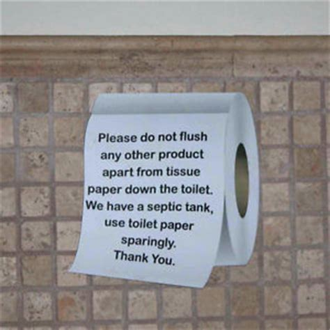 bathroom signs for septic systems septic tank sign toilet roll shaped sign loo plaque