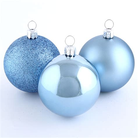 22 ct 60mm blue shatterproof ball ornament set sears