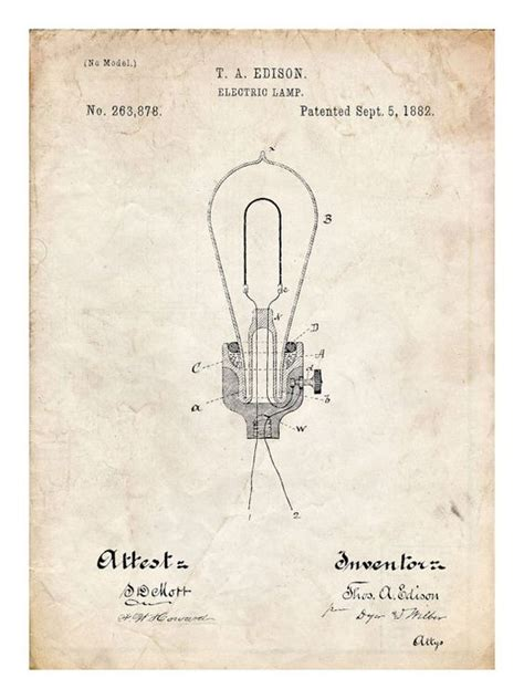 how did edison created the light bulb buy edison light bulb electric l 1882 us patent