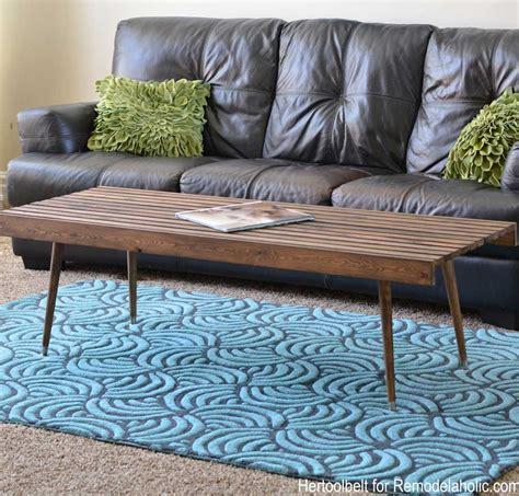build modern coffee table albert diy modern slat coffee table building plan