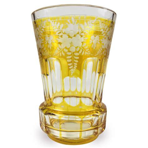 bicchieri cristallo di boemia bicchiere di boemia in cristallo molato della 1800