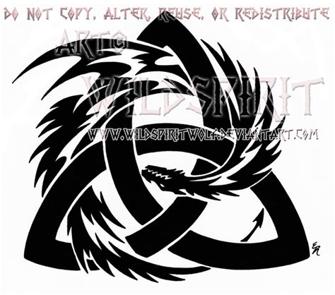 tribal trinity tattoo tribal and knot design by wildspiritwolf on