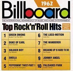 Music   Billboard for 1962  Top 10 hits   Back  in the