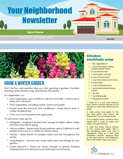 Farm January Newsletter D2 First Tuesday Journal Tenant Newsletter Template