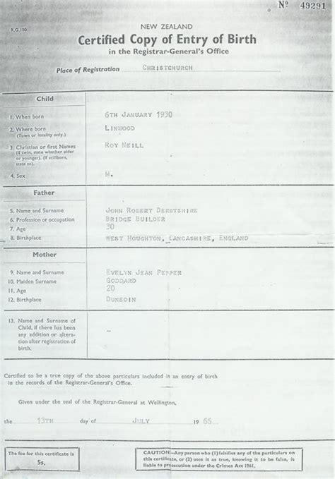 New Zealand Birth Records New Zealand Birth Certificate