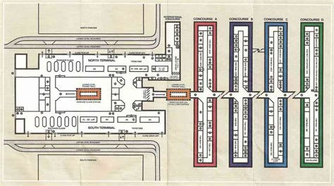 layout of atlanta airport atlanta airport terminal map holidaymapq com