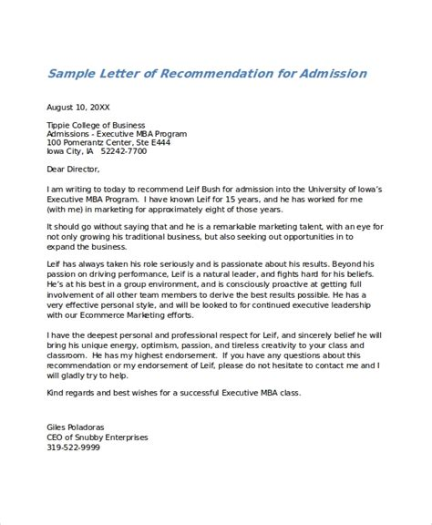 letter recommendation ms word pages