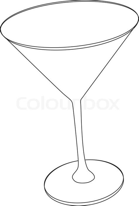 martini clipart no background vector illustration of cocktail glass stock vector