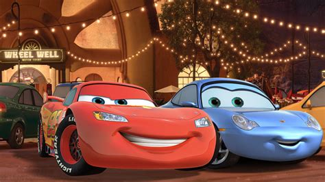 cars sally and lightning mcqueen kiss mcqueen and sally wallpaper 1240x698 by