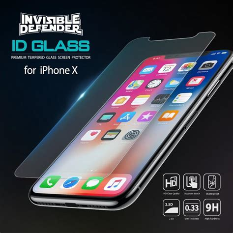 Temper Glass Iphone X iphone x ringke 174 tempered glass 0 33mm 3 pack