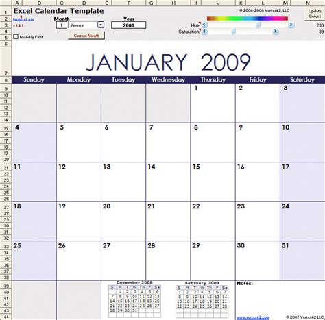 calendar template xls excel calendar template for 2016 and beyond