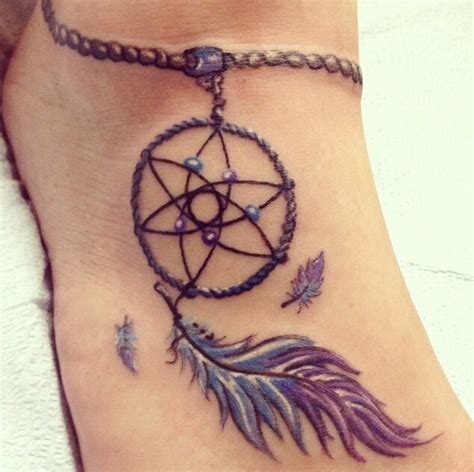 dream catcher tattoo on ankle 10 neat native american ankle tattoos