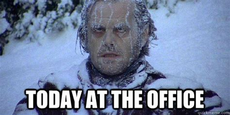 The Shining Meme - today at the office the shining frozen quickmeme