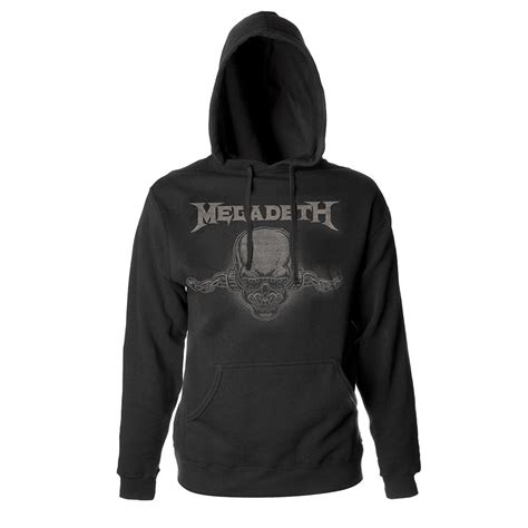 Hoodie Megadeth Xxxv Cloth 1 megadeth vic pullover hoodie shop the musictoday