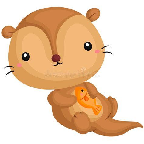 clipart pesce lontra e pesce illustrazione di stock illustrazione di