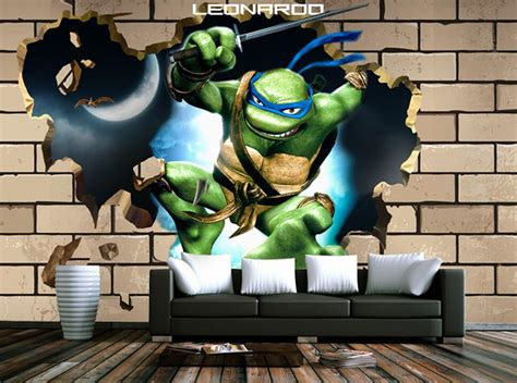 ninja turtle wallpaper for bedroom custom children wallpaper teenage mutant ninja turtles