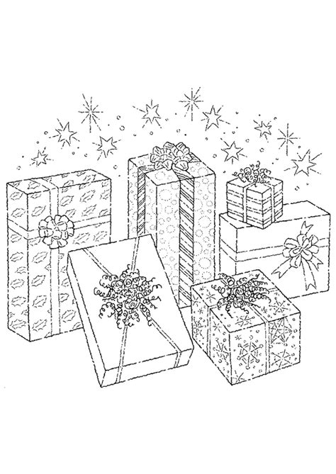 Coloriage cadeaux etoiles noel sur Hugolescargot.com