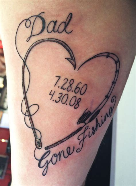 in memory of dad tattoos for daughters fishing fishing quotes fishing