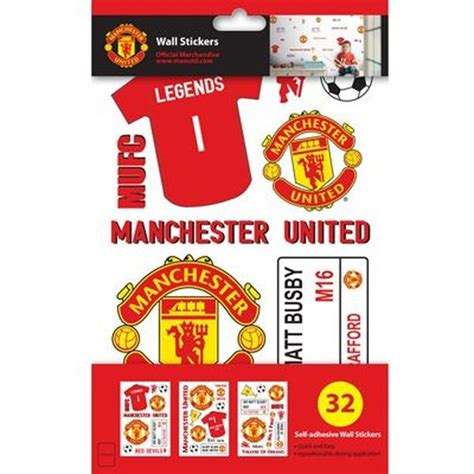 manchester united wall sticker manchester united wall sticker pack www unisportstore