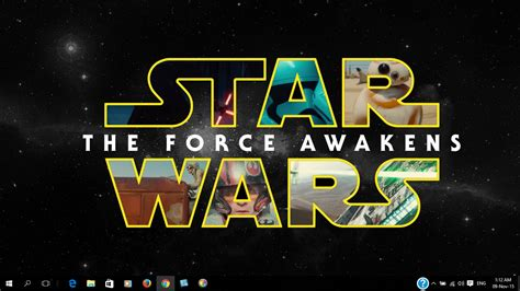 theme windows 10 star wars 7 star wars episode vii the force awakens theme pack for