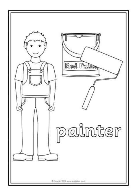 occupations colouring sheets sb sparklebox