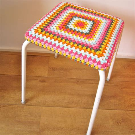Stop N Go Stool by Color N Crochet And Color Bomb Stool
