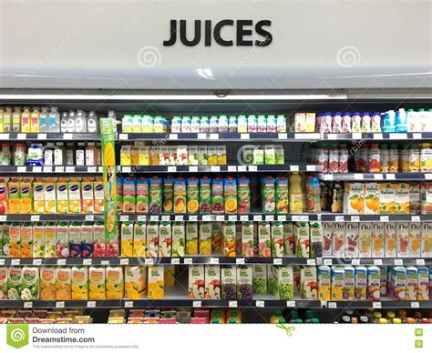 product section juice section in supermarket editorial photo image of