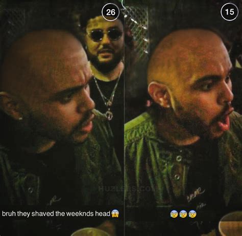 whats th weeknd hairstyle called prankster shaves the weeknd s head bald at party while