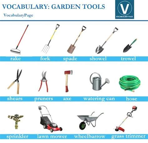 49 best images about pictorial vocabulary on pinterest english garden tools and learn english
