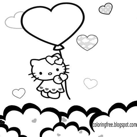 hello kitty heart coloring page free coloring pages printable pictures to color kids