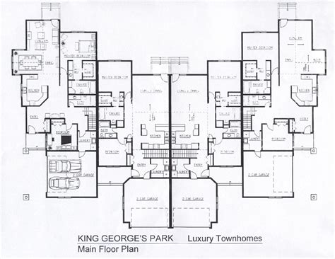 Luxury Townhomes Floor Plans | king george s park luxury townhomes