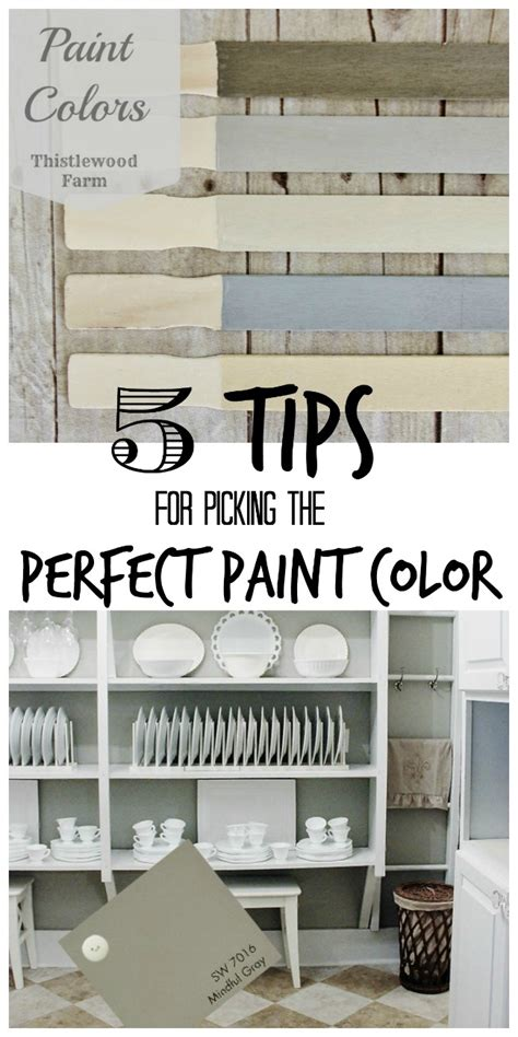 five tips for picking the paint color