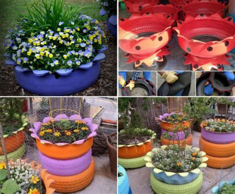 Tire Flower Planters by Tire Flower Planter Tutorials