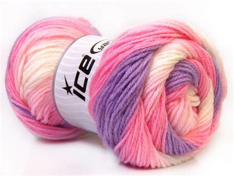Benang Rajut Acrylic Putih benang rajut impor baby pink white lilac 02 crafts