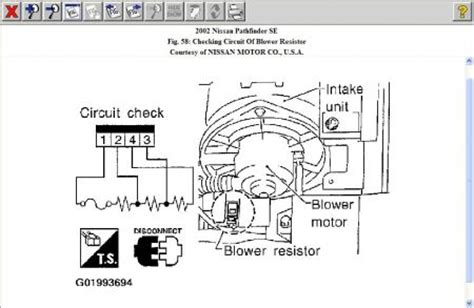 how to test if resistor is working 2002 nissan pathfinder air conditioning problem 2002 nissan