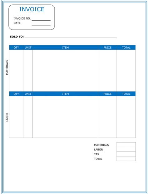 templates for word invoices contractor invoice template word invoice exle