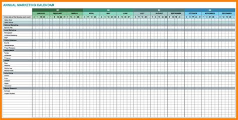 annual marketing calendar template 15 calendar excel template xavierax