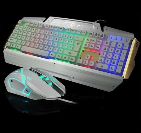 Keyboard Gaming Epraizer Combo Cz021 usb led light gaming keyboard and mouse combo set for pc computer gamer ebay