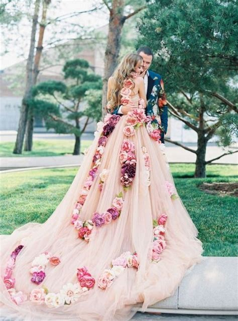 30 floral wedding dresses you shop now deer pearl flowers part 2