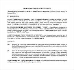 Investment Contract Template by Investment Contract Template 7 Free Sle Exle