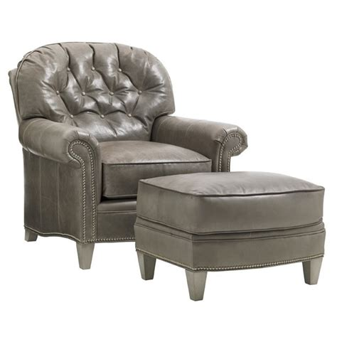 arm chair with ottoman oyster bay bayville leather arm chair with