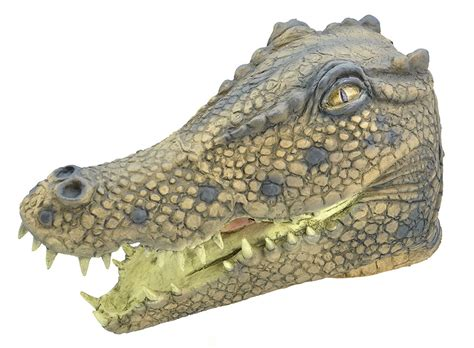 alligator rubber st crocodile mask animal accessories mega fancy dress