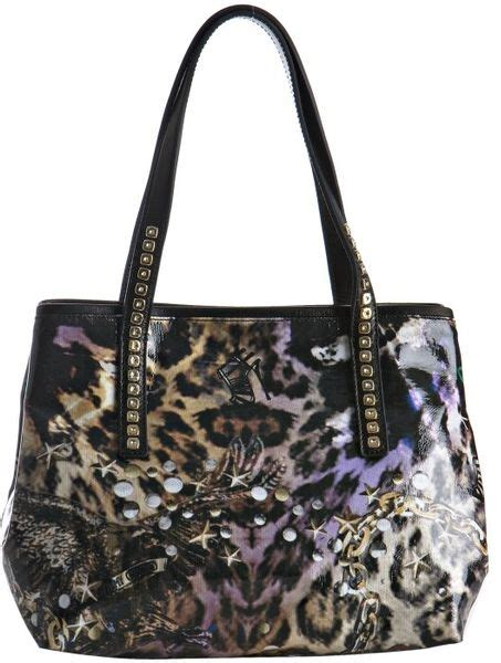 Jimmy Choo Polly Glazed Canvas Bag by Jimmy Choo Black Leopard Print Glazed Canvas Scarlet Small